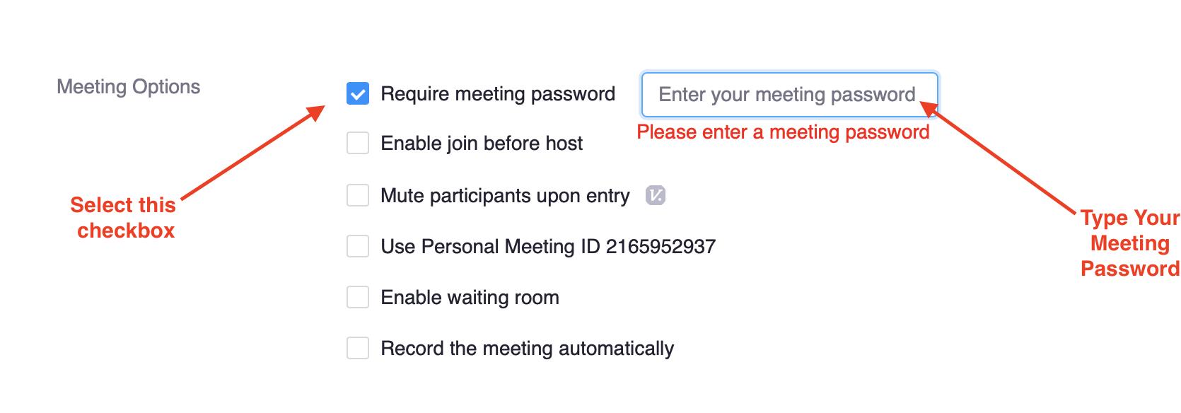Require Meeting Password